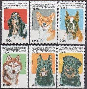 1998 Cambodge 1814-1819 Dogs 5,50 €
