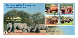 Botswana - 2011 WWF Rhino FDC