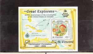 SAINT VINCENT 1093 SOUVENIR SHEET MNH 2019 SCOTT CATALOGUE VALUE $3.50