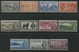 Newfoundland 1937 KGVI Coronation complete set all unmounted mint NH except 25¢
