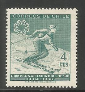 CHILE  350  MINT HINGED,  SKIER, WORLD SKIING CHAMPIONSHIPS, CHILE, 1966