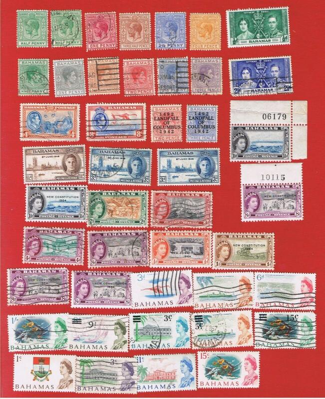 Bahamas #70//261 MVFLH & VF used Incomplete Sets  Free S/H