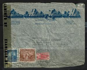Colombia - 1943 Censored Airmail Cover to USA (Minor Creases) - Lot 090417