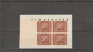 Finland  Scott#  161  MNH  Booklet Pane  (1930 Lion Type)