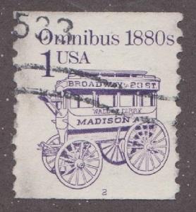 US #2225b Omnibus Used PNC Single plate #2