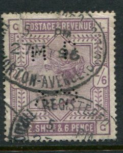 Great Britain #96 Used HPAP Perfin