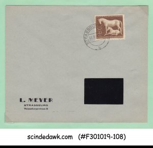 GERMANY - 1944 ENVELOPE WITH HORSE STAMP - USED