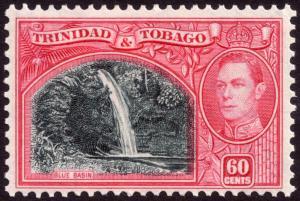Trinidad & Tobago 1938 60c Myrtle-Green & Carmine SG254 MH