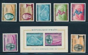 Haiti - Rome Olympic Games MNH Sports Set (1960)