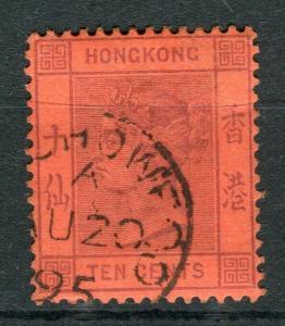 HONG KONG; Foochow Treaty Port Cancel on QV 10c. value,