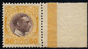 Danish  West Indies 58 Mint VF NH crackly gum