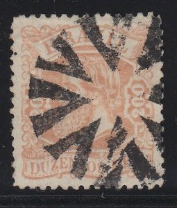 Brazil 1882-4 200r Pale Red Brown Type 1 Larger Head Used. Scott 84
