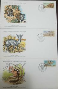 L) 1976 SOUTH WEST AFRICA, NATURE, ANIMALS, WOMBATS MADOQUA, DICDICS, CHIPMUNK