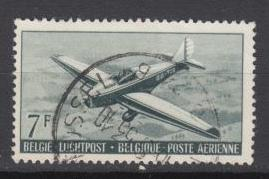 Belgium -1951 Air stamp 7fr Sc# 14  (1138)