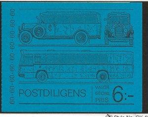 SWEDEN SC# 990a(Facit #H263B) COMP BKLT/10   FVF/MOG