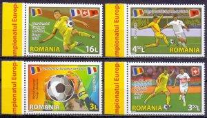 Romania. 2016. 7081-84. Football. MNH.