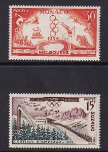 Monaco  #363-364  MNH  1956  Olympic games Melbourne