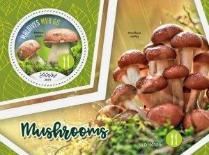 Z08 MLD190301b MALDIVES 2019 Mushrooms Pilze MNH ** Postfrisch