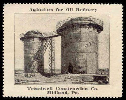 Oil Refinery Agitatiors Advertising Poster Stamp