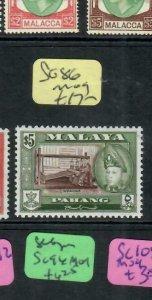 MALAYA  PAHANG (P3107BB) SULTAN $5.00 SG 86    MOG