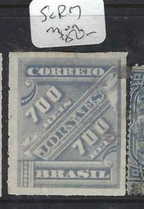 BRAZIL (P2404B) NEWSPAPER STAMP  700R  SC P17     MOG
