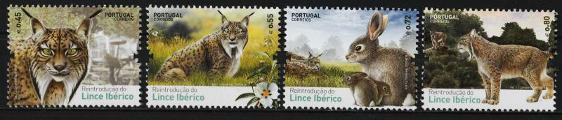 Portugal 2015 Reintroduction of the Iberian Lynce (4/4) MNH