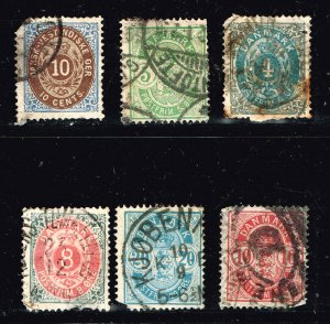 DENMARK USED STAMP COLLECTION LOT