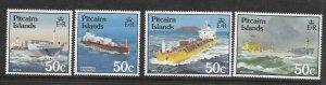 Pitcairn Is  258 - 261  (SG 273/6)Ships- MNH - VF - CV$4.00