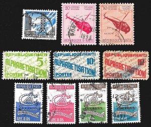 Haiti Postal Set Lot - RA23-RA42,RA28-RA30, RA34, RA36,RA39,RA44,RA45 * Used