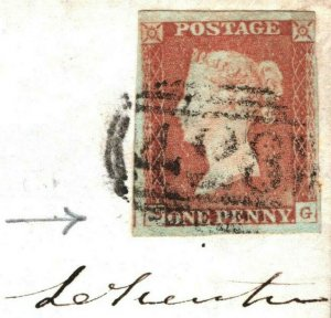GB Cover INVERTED S VARIETY Plate 78 *Framfield Penny Post* 1848 Sussex V96