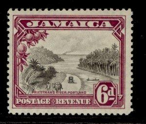 JAMAICA GV SG113, 6d grey-black & purple, LH MINT. Cat £35.