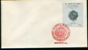 MEXICO 1525 FDC World Post Day F-VF