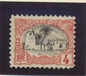 Somali Coast (Djibouti) Stamp Scott #51a, Mint Hinged - Free U.S. Shipping, F...