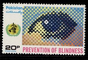 PAKISTAN QEII SG413, 1976 20p prevention of blindness, NH MINT.