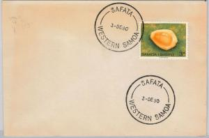 SHELLS - WESTERN SAMOA  -  POSTAL HISTORY:  COVER from SAFATA  1980