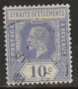 Straits Settlements Scott 190 Used Wmk 4 type 1