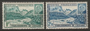French Polynesia 1941 Sc 125A-B set MLH*