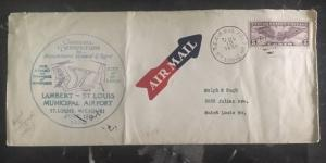 1930 St Louis Mo Usa First Flight Cover FFC Official Admiral Byrd Autograph