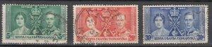 KUT - 1937 Coronation Sc# 60/62 (7686)