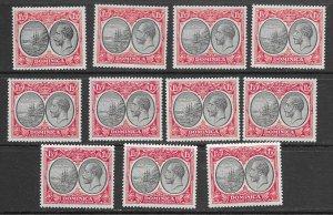 Dominica 68 MNH x 11. see desc. 2020 CV$74.25