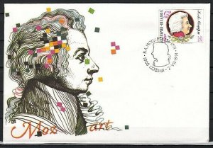 Bulgaria, Scott cat. 3621. Composer Mozart issue. First day cover. ^