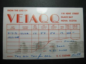 5740 Amateur Radio QSL Card Glace Bay Nova Scotia