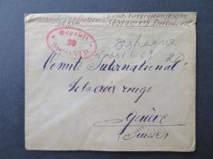Germany WWII Stalag VI D POW Cover to Switzerland / Light Creasing - Z8094