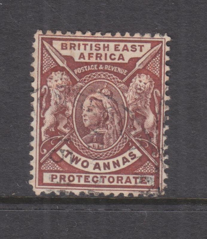 BRITISH EAST AFRICA, KENYA, 1891 QV 2a. Chocolate, used.