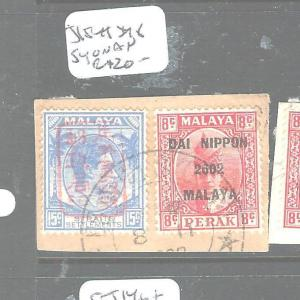 MALAYA JAPANESE OCCUPATION STAITSR+ PERAK (PP0604B) 15C+8C PIECE SYONAN CDS VFU