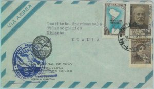89557 - ARGENTINA - Postal History - OFFICIAL STAMPS on COVER to ITALY 1959
