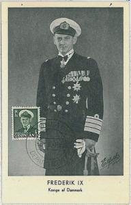 MAXIMUM CARD : ROYALTY  -  Greenland 1952