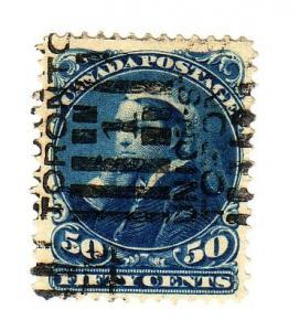 Canada Sc 47 1893 50 c  Victoria stamp used