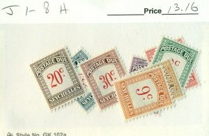 SEYCHELLES #J1-8, Mint Hinged, Scott $13.16
