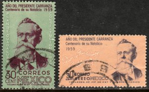 MEXICO 907,C246 Cent. Venustiano Carranza. Used. VF. (453)